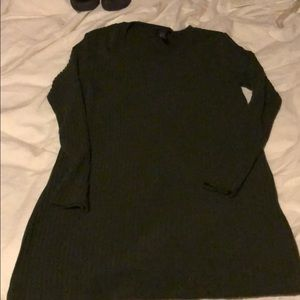 Olive green sweater dress